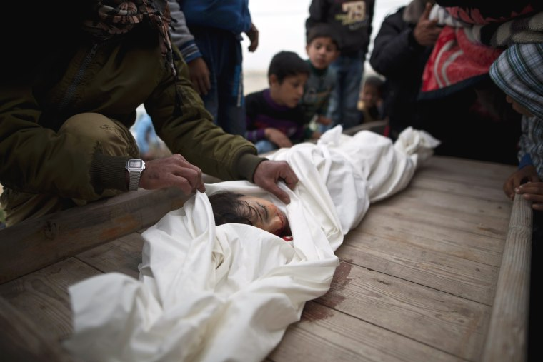 Image: TOPSHOT-PALESTINIAN-ISRAEL-FUNERAL-CONFLICT