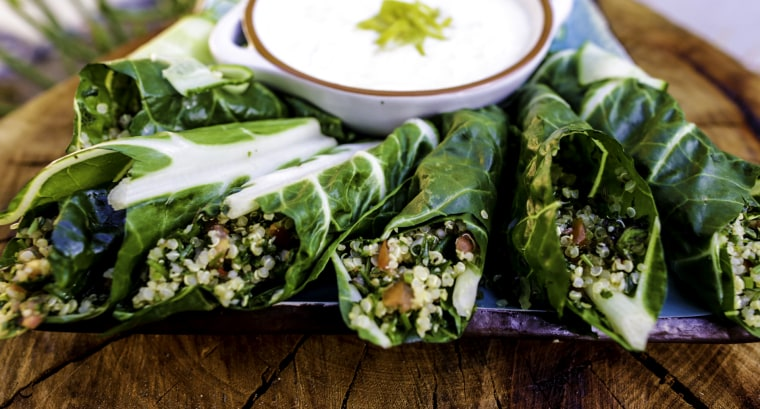 Collard wraps are the perfect addition to any St. Patrick's Day party