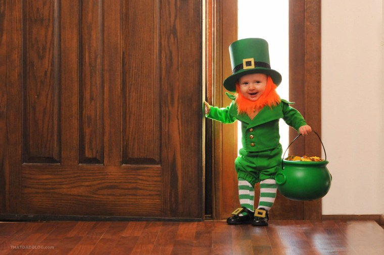 Utah dad Alan Lawrence has created a photo series starring his 6-month-old son Rockwell as a leprechaun.