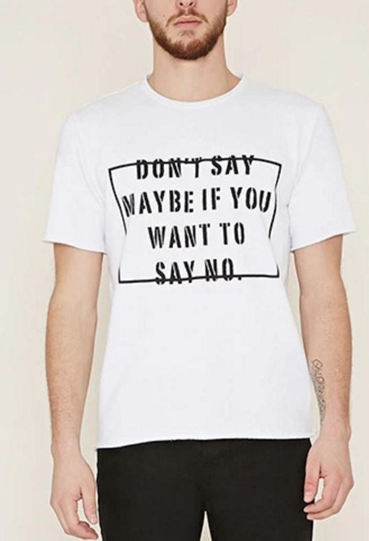 Forever 21 apologizes for \'Don\'t say maybe\' T-shirt slogan after ...