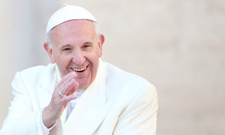 """Pope Francis is encouraging mothers to breastfeed in public, even in the Sistine Chapel, if they need to, """"just like the Virgin Mary nursed Jesus."""""""