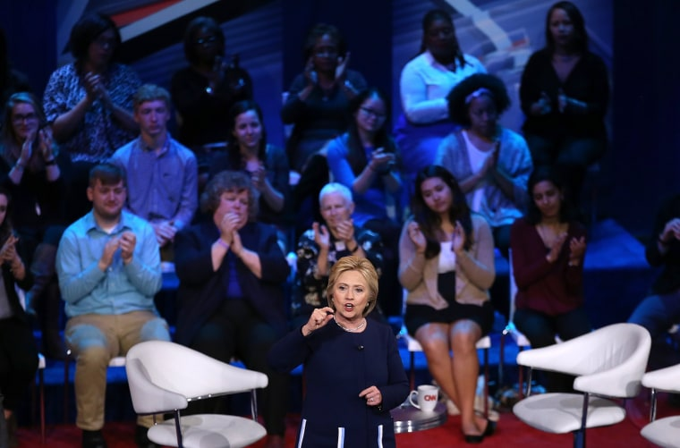 Image: Hillary Clinton Attends Democratic Town Hall Held In Columbus, Ohio