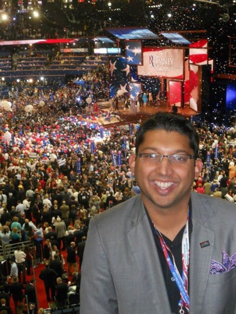 Aakash Patel at the 2012 Republican Convention in Florida.