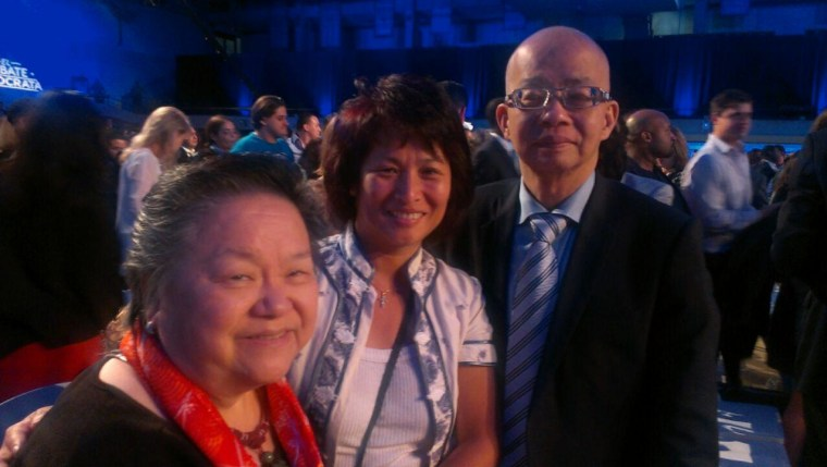 From left: Bel Leun Hong, DNC AAPI Caucus Chair; Winnie Tang, Miami-Dade Democratic Executive Committee; and Sam Ma, member of the DNC Finance Committee.