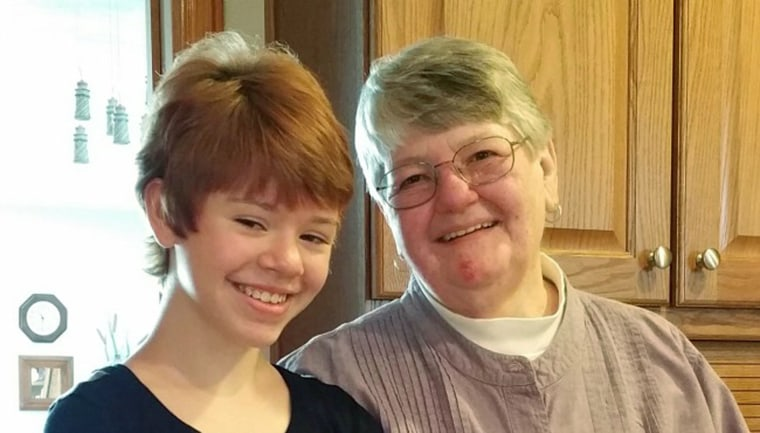 The parents of Abigail Kopf (left), the youngest survivor of the Kalamazoo shooting rampage, are crediting Barbara Hawthorne (right), another victim, with saving their daughter's life.