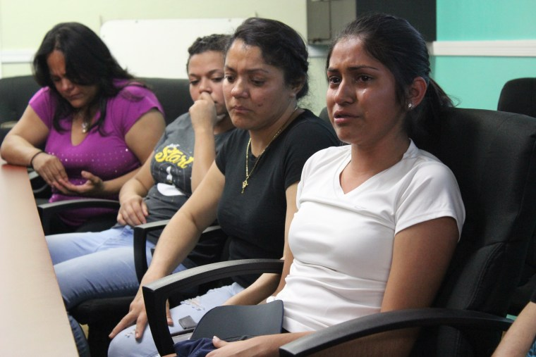 Katherine Figueroa (right) spoke about her undocumented parents' arrest during a meeting with Jane Sanders, wife of presidential candidate Bernie Sanders, in Phoenix on Monday.