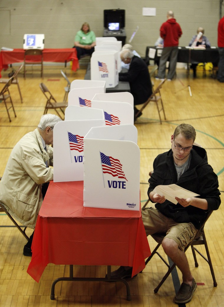 Image: Voters cast their ballots in the U.S. presidential primary election in Ohio