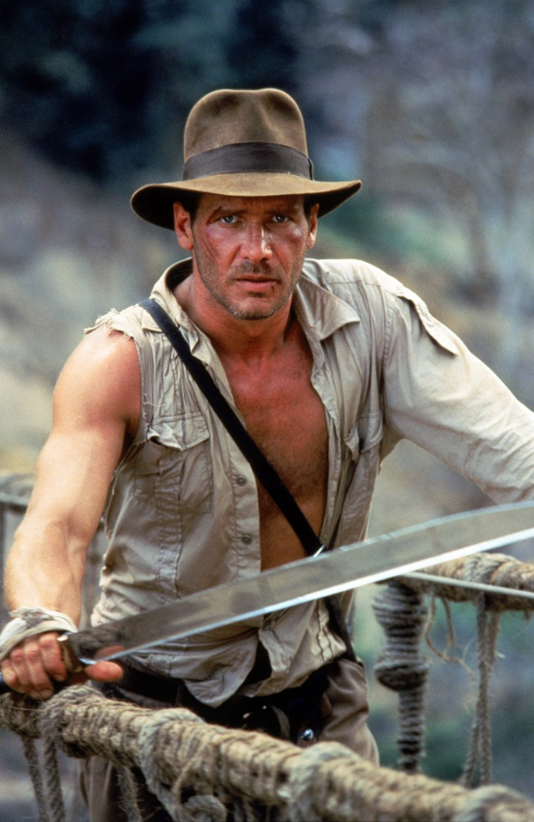 Image: Harrison Ford as Indiana Jones in 1984's Indiana Jones and the Temple of Doom