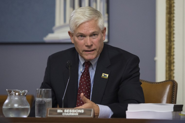 Chairman Pete Sessions, R-Texas, speaks during a House Rules Committee meeting on November 2, 2015.