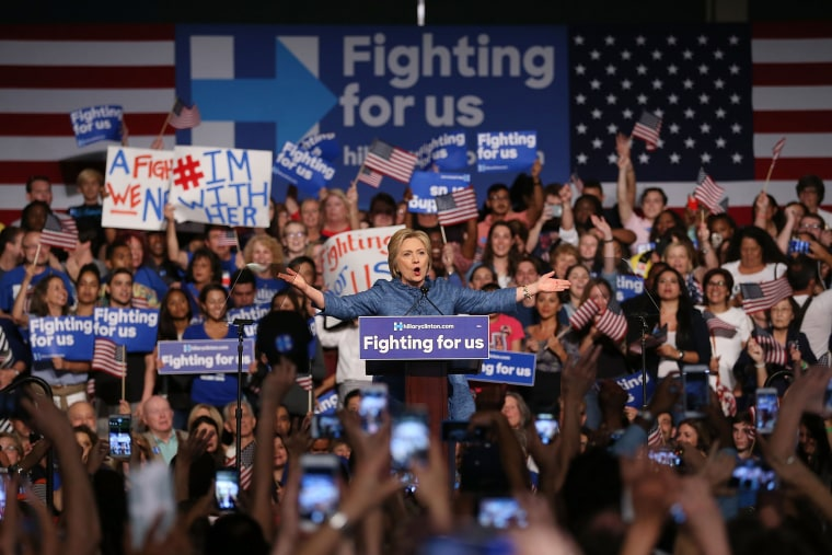 Image: Democratic Presidential Candidate Hillary Clinton Holds Primary Night Event In Florida