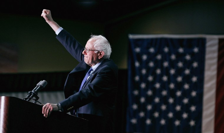 Image: Presidential Candidate Bernie Sanders Holds Primary Night Rally In Phoenix, Arizona