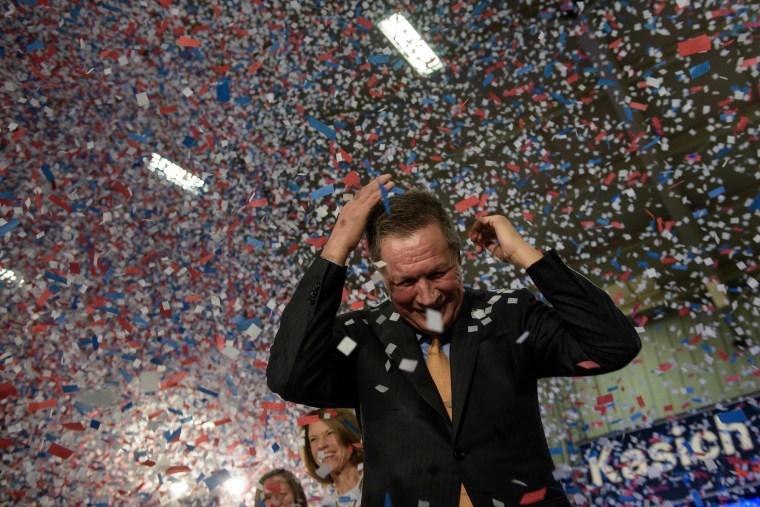 Image: TOPSHOT-election-US-VOTE-REPUBLICANS-KASICH
