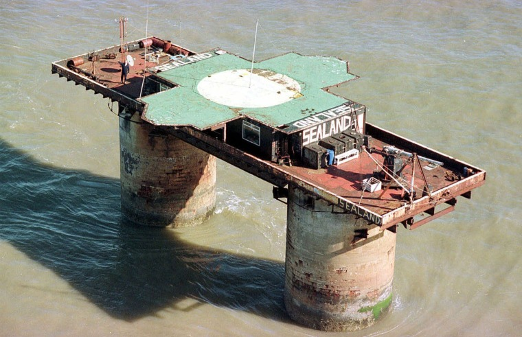 Image: The self-proclaimed sovereign principality of Sealand