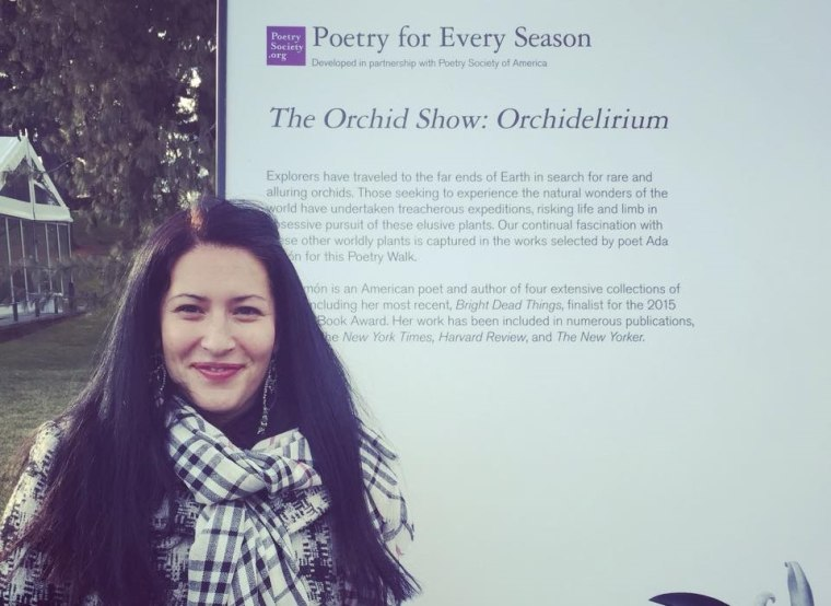 Ada at the New York Botanical Garden where she curated a poetry walk for the annual orchid show.