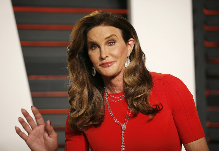 Image: File photo of Caitlyn Jenner arriving at the Vanity Fair Oscar Party in Beverly Hills