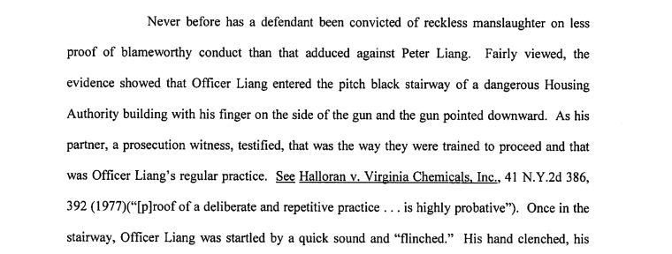An excerpt of court documents showing part of Liang's attorneys' arguments.