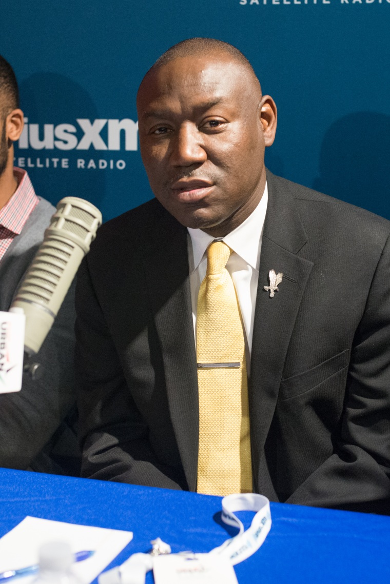 NEW YORK, NY - DECEMBER 03: (L-R) President of National Bar Association Ben Crump attends SiriusXM's 'An American Conversation: Race And Policing' at the SiriusXM Studio on December 3, 2015 in New York City.