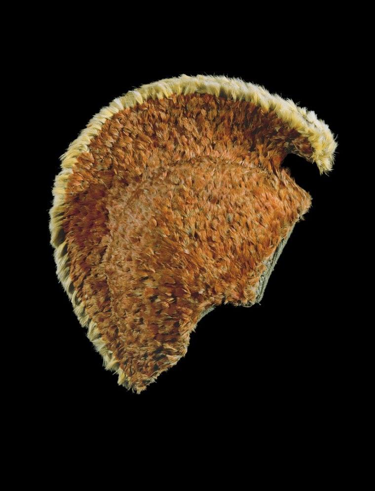 The mahiole (feathered helmet) of chief Kalani'ōpu'u.