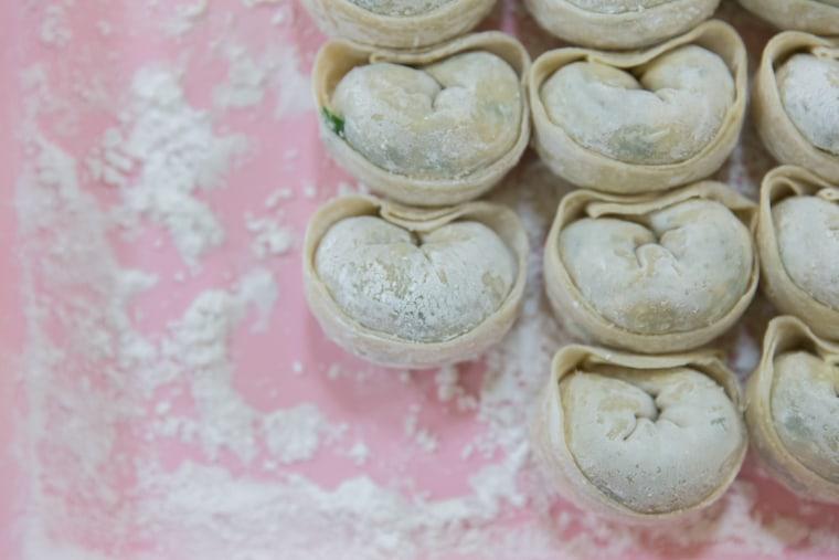 "Korean dumplings sourced from the Atlanta leg of Hong and Rodbard's trip for ""Koreatown."""