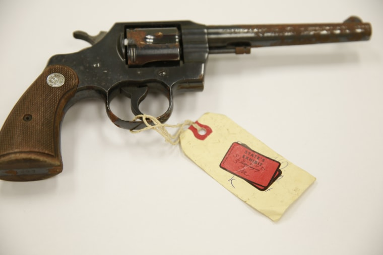Chesimard and another suspect were convicted of using Foerster's service revolver (seen here) to finish off the wounded trooper.
