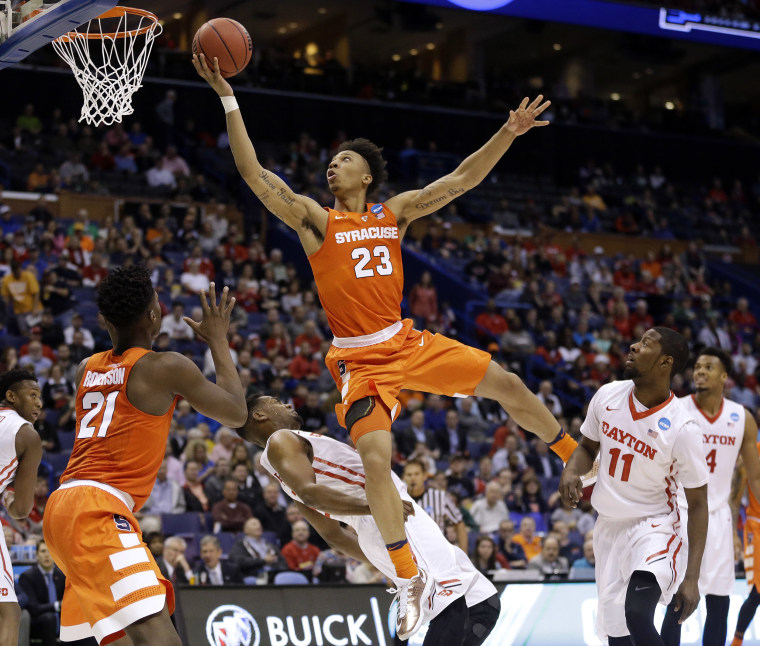Image: Scoochie Smith, Dyshawn Pierre, Malachi Richardson, Tyler Roberson