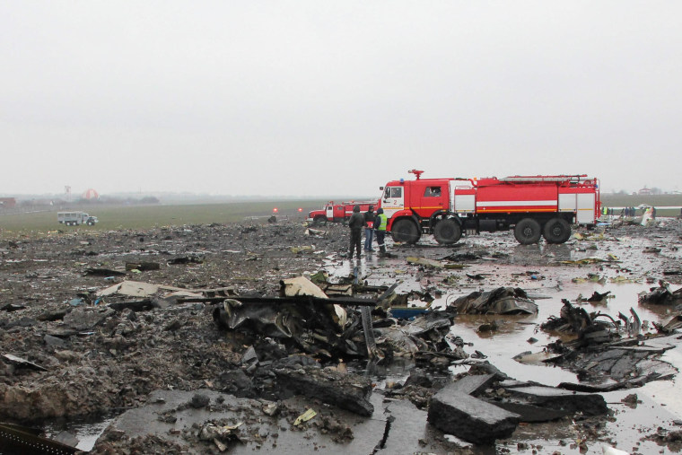 Image: 62 People killed in flydubai FZ981 plane crash in southern Russia