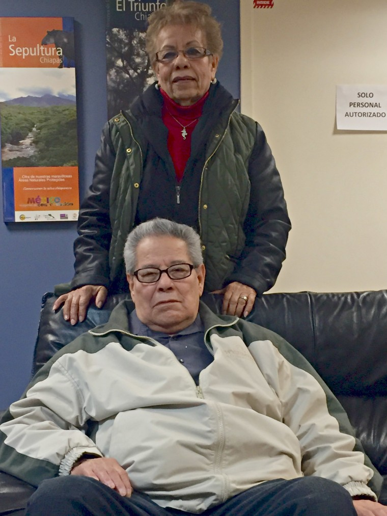 Aurora and Abelardo Rosiles, from Northlake, Illinois, have decided to become U.S. citizens after being permanent residents for two decades so they can vote against Donald Trump.