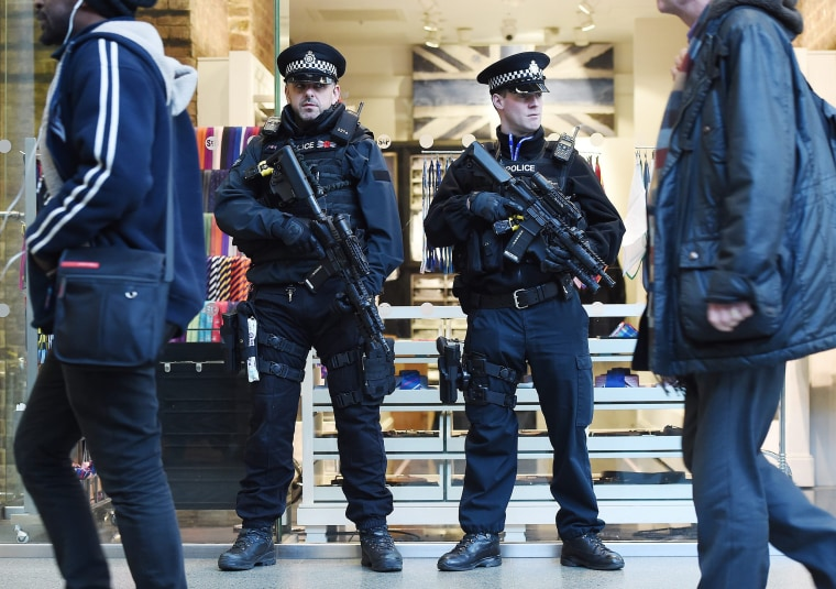 Security in London following Brussels bomb attacks