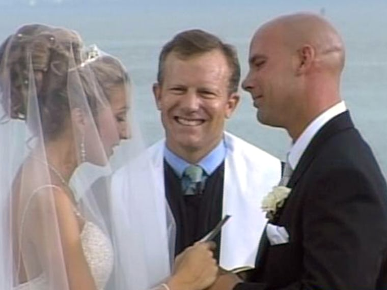 TODAY Throws a Wedding 2005 couple: Sarah Raley and Mark Dale