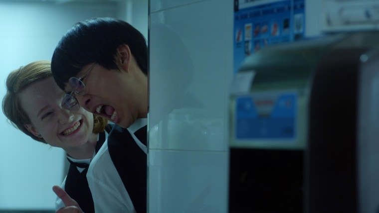 """Seth and Claire, played by Justin Chon and Liv Hewson, in a still from """"Dramaworld,"""" which premieres April 16 on the web-streaming service Viki."""