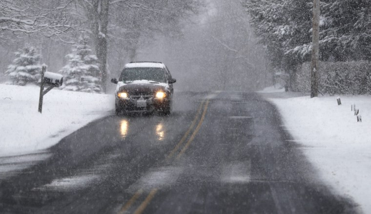 Image: Spring snowstorm in New England