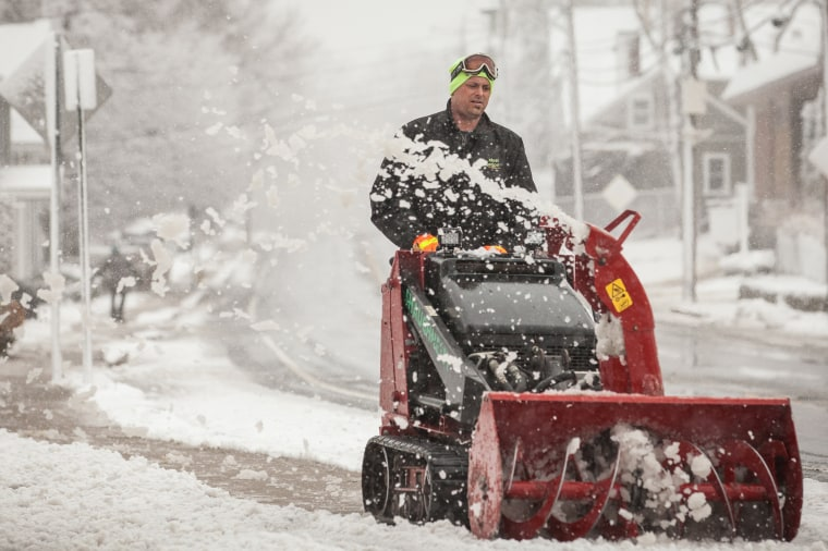 Image: Spring Storm Brings Snow To Northeast