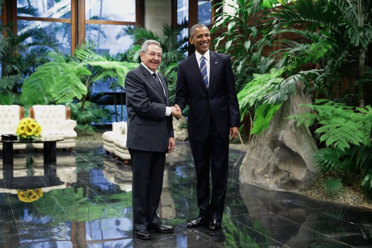 Image: President Obama Meets With Cuban President Raul Castro In Havana