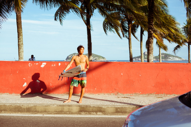 Kanoa Igarashi, who is currently competiting in the World Surf League's Men's Championship Tour.