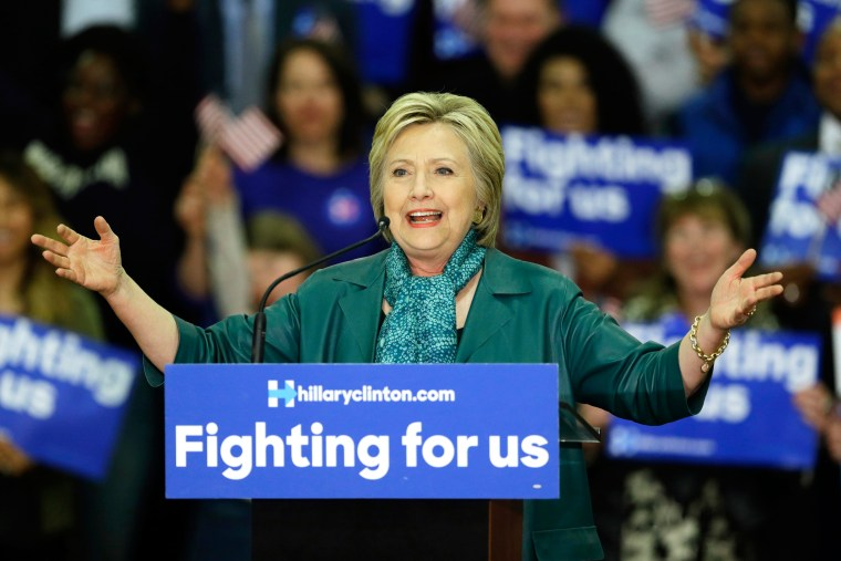 Image: Democratic presidential candidate Hillary Clinton speaks