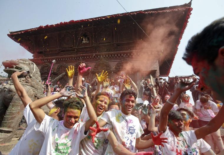 Image: Nepalese celebrate Holi festival in Kathmandu
