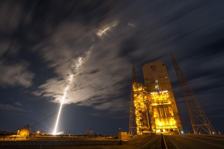 Image: TOPSHOT-US-SPACE-AEROSPACE-ORBITAL-ISS