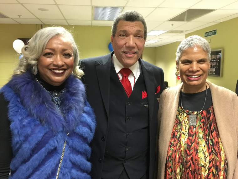 Eugene Harmond, the first African American male flight attendant – or steward as they were called at that time – to don the wings of Delta. Harmond is shown here with Patricia Grace Murphy (right) and Phenola Smith (left), Delta's first and second black female flight attendants, who were both hired in 1966.