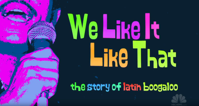 "Still from ""We Like It Like That,"" a documentary on the Boogaloo musical genre."