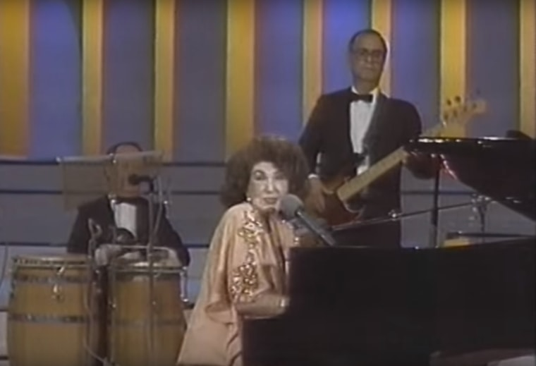 Consuelo Velázquez, who was a teenager living in Mexico when she wrote probably her most famous composition, singing 'Bésame Mucho.'