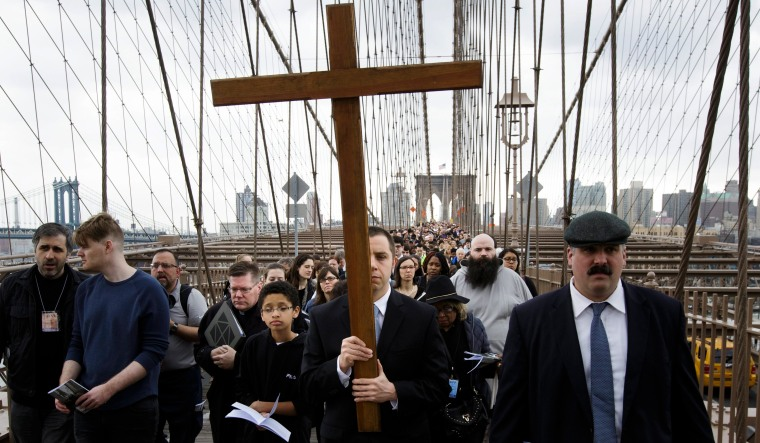 Image: Way of the Cross over the Booklyn Bridge