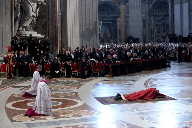 Image: Pope Attends The Celebration Of The Lord's Passion