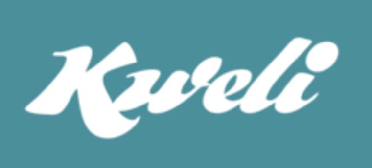 Screen grab of the Kweli logo