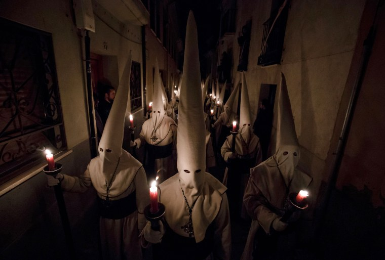 Image: TOPSHOT-SPAIN-RELIGION-HOLY-WEEK