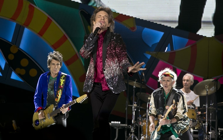 The Rolling Stones during a 2016 performance in Havana, Cuba.