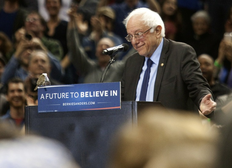 Image: Bernie Sanders Holds Campaign Rally In Portland, Oregon