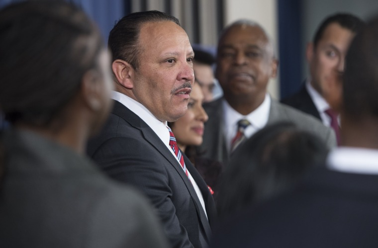President of the National Urban League Marc Morial speaks during a press conference in November 2014.