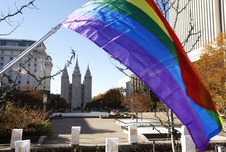 Mormons Protests Church's New Ruling Against Children Of Same-Sex Couples