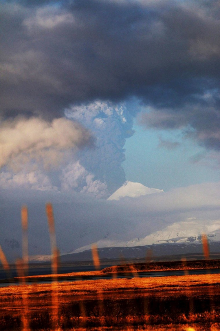 Image: Handout photo of the Pavlof Volcano erupting in Alaska
