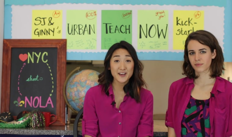 """SJ Son and Ginny Leise are currently crowdfunding a TV pilot called """"Urban Teach Now."""""""